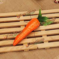 5шт фрукты красного искусственного морковь кухонный шкаф декор обучения фотографии реквизит