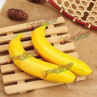 Искусственный банан пластиковый подражали фрукты домой магазин декоративная имитация декоративные реквизит