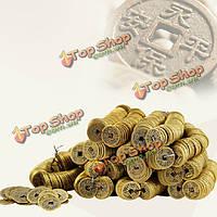 100шт античная медь китайской династии Цин повезло монет