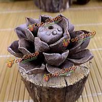 Ручной работы из глины керамики держателя ладана листьев лотоса горелки ладана
