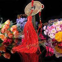 Традиционный китайский узел кулон большие медные монеты прокат украшений