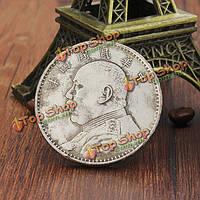 Мельхиор серебро сбора монет юаней Ши-кай глава Древний Китай антикварная