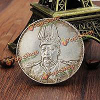 Top Hat дракон китайский собирать монеты старого фарфора юаней Ши-кай монета Тибета серебро