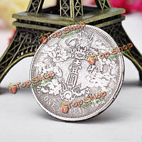 Древний китайский дракон серебряный доллар монета монеты монет-подражаний