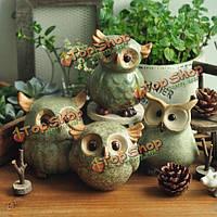 Сова керамические орнаменты ретро животного предметы интерьера украшения