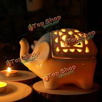 Творческий пустотелый керамический слон поделки арома-подсвечник
