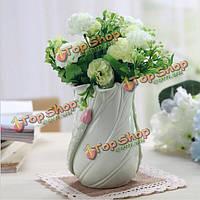 Простые свежих листьев лотоса цветок керамический пенал для обустройства дома декор