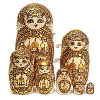 7шт русской матрешки традиционные деревянные ручной работы матрешка подарок декора