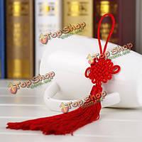 10шт красный ручной вязки китайский узел подарка празднования поставки автомобиля подвеска