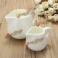 50мл/150мл белый керамический кувшин молока кухня наливая кофе сливочный соус чашка с ручкой