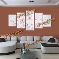5шт бескаркасные холст картины лилии художественная краска для украшения дома стены