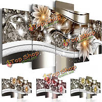 5шт алмазный цветок искусства печать холст бескаркасных роспись стены картина украшение дома