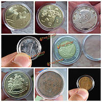 10шт 30мм прозрачный круглый случаи капсулы для хранения монет контейнер коллекционирования монет коробка