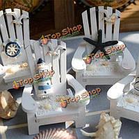 Средиземноморский стиль деревянные мини стулья для рабочего украшения домашнего украшения сада мебель