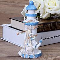 5.9-дюймов средиземноморском стиле деревянный маяк морской орнамент украшения дома мореходное берег