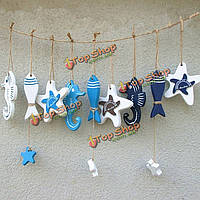 Средиземноморский стиль деревянные рыбы звезда дельфинов висит морской декор лодке корабль пляж орнамент стены