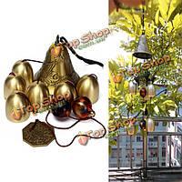 6 колоколов меди часы двор сад на открытом воздухе жизни удивительно ветер куранты