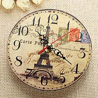 Старинные деревянные Эйфелева башня настенные часы домой стены кафе декоративные вук часы