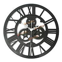 Старинные настенные часы деревенский искусство большой деревянный механизм ручной домашний бар кафе декора подарок 32см
