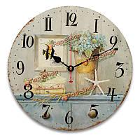 34см старинные настенные часы архаику кухни в стиле ретро потертый шик домашнего декора кафе