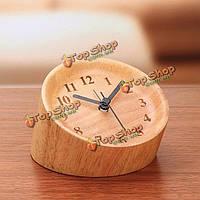 Деревянный немой многомерная перспектива будильник творческих будильники домашнего декора подарок