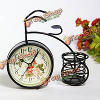 Старинные стол велосипед настольные часы практические декоративные корзины для хранения вазы домашнего декора часы