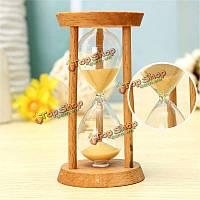 3 минуты деревянный песок часы песочные часы песочные часы домашнего декора уникальный подарок кухонный таймер