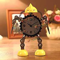 Деформация робот будильник творческий немой часы сообщение клип домашнего декора часы подарок игрушки