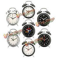 Digoo 4-дюйма близнец Bell Series часы в стиле ретро металлические украшения близнец Bell часов спальня