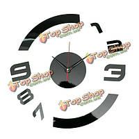 3 цвета DIY настенное зеркало украшение настенные часы стикер стены дома