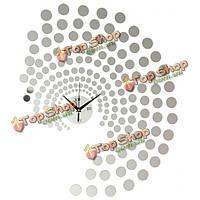 Павлин точки DIY настенные часы домашнего украшения акриловые наклейки на стену