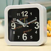 Белый мини часы путешествия сигнализации кварц сигнализация Звуковой сигнал ночных часов дар домой комнатная офисный стол декор