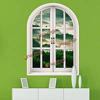 Горы 3d искусственное окно просмотра вол удаленного горы комната стены стикеры стены дома подарок декора
