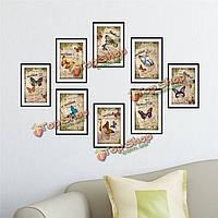 1 комплект 3D фото наклейки для стен бабочки образцы изображения картины комбинированные наклейки стены дома декора