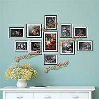1 комплект цветы 3D фото комбинированные наклейки на стены картины рама картины наклейки домашнего декора стены