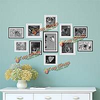 1 комплект бабочки 3D фото сочетание наклейки на стены картины наклейки домашнего декора стены