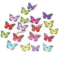18шт 4 модели 3D бабочки кристаллические стикеры стены декор стен домашней комнаты двери Windows отличительные знаки подарочные