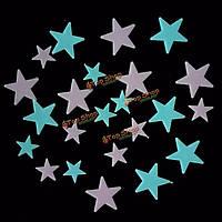 Флуоресцентные светящиеся звезды на потолок 24шт