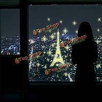 Светящаяся Эйфелева башня стикеры стены светятся в темноте домашнего декора комнаты стены окна