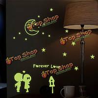 Светящиеся стикеры стены навсегда любовь свечение в темноте домашнего декора комнаты стены окна