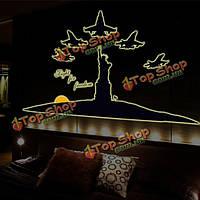 160см светящиеся стикеры стены статуя свободы свечения в темноте домашнего декора комнаты стены окна