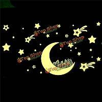 Светятся в темноте звезды луны светящиеся наклейки съемный стикер стены винила настенной росписи детской комнаты декор