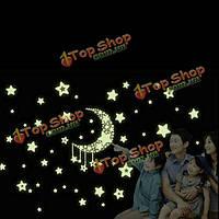Лунные стенные этикетки звезд noctilucent ПВХ сменная переводная картинка домашняя обстановка помещения