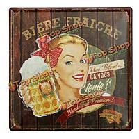 Пиво жестяная вывеска старинные металлические бляшки плакат Пивной бар дома стены декор