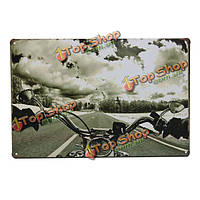 Дорожного мотоцикла жестяная вывеска старинные металлические бляшки бар паб декор стен