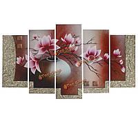 5шт холст печати живописи цветок орхидеи искусства стены рисунок бескаркасной изображение стены дома декор