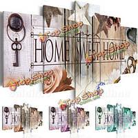 5шт сладкий дом бескаркасные холст печати стены искусства картина картины дома украшения для небольшого размера