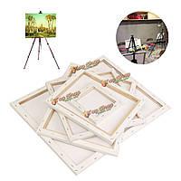 Белый пустой квадрат холста доска деревянная рамка для искусства художника масло акриловых красок