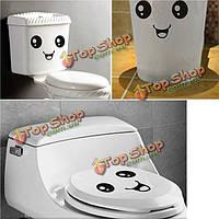 Милые улыбающееся лицо санузел туалет closestool наклейки наклейки водонепроницаемый наклейки