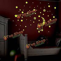 Маленькая звезда люминесцентная светящаяся стена стикер гостиной украшение дома деколи поделки росписи стены искусства